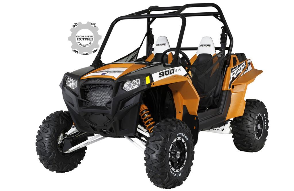 Фото квадроцикла Polaris Ranger RZR XP 900 2012 — Black:Orange Madness