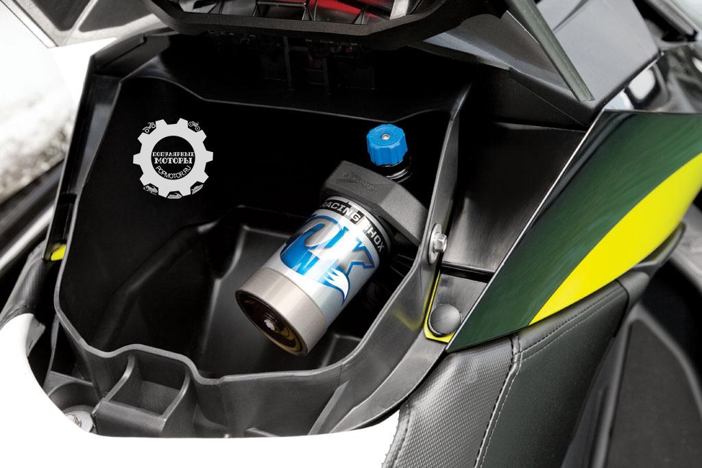 Сложный на вид регулируемый амортизатор позволяет водителям настраивать подвеску под те или иные условия.