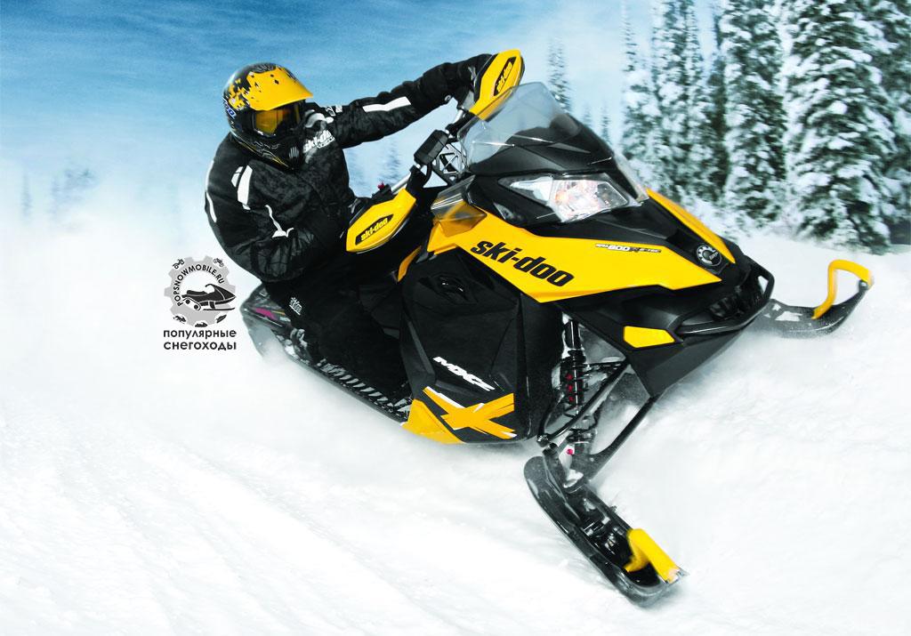 Фото лучшего высокомощного снегохода Ski-Doo MXZ X 800 2013