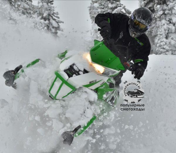 Лучший 4-тактный горный снегоход 2013 - Arctic CatM1100 Sno Pro Turbo и HCR