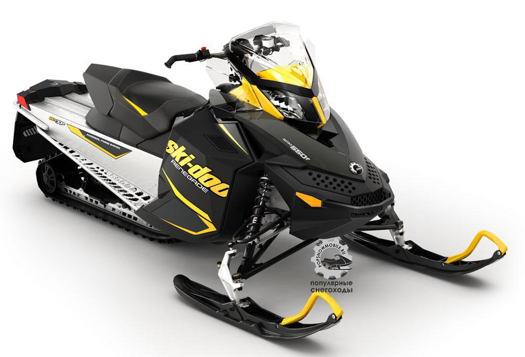 Ski-Doo Renegade Sport 550F – лёгкий и надёжный снегоход со всеми преимуществами шасси REV и современной подвески.