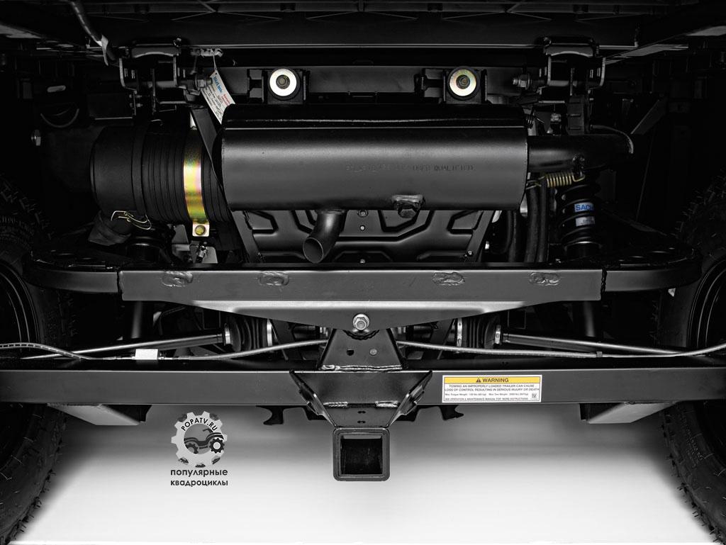 Многозвенная задняя подвеска De Deion с койловерами рассчитана на минимальное проседание в условиях большой нагрузки.