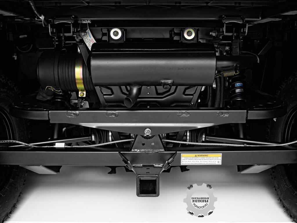 Даже с загруженной грузовой платформой задняя подвеска De Dion не будет проседать, сохраняя изначальный клиренс машины.