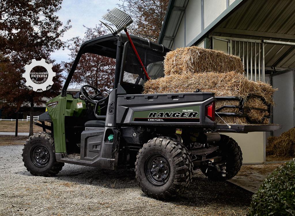 Фото анонса Polaris Ranger Diesel HST и HST Deluxe 2014 - Polaris Ranger Diesel HST 2014 с грузом