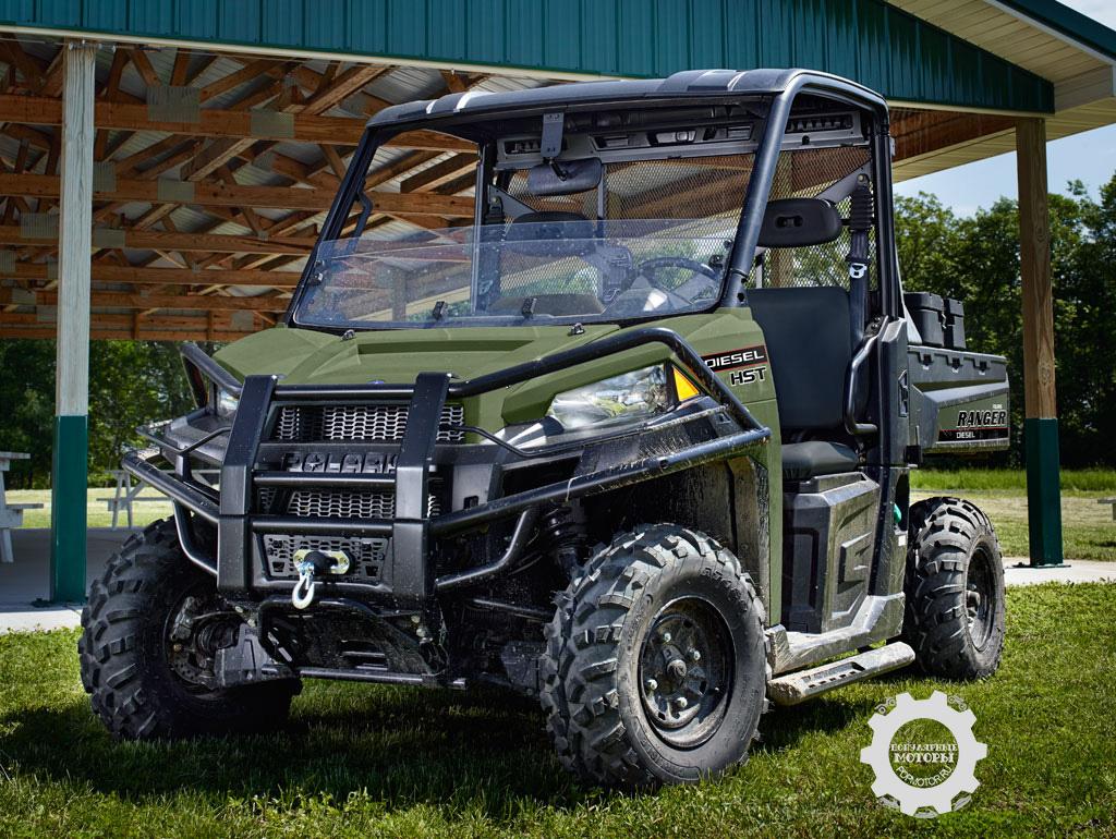 Новое семейство Polaris Ranger Diesel HST – мотовездеходы Side-by-Side с возможностями трактора.