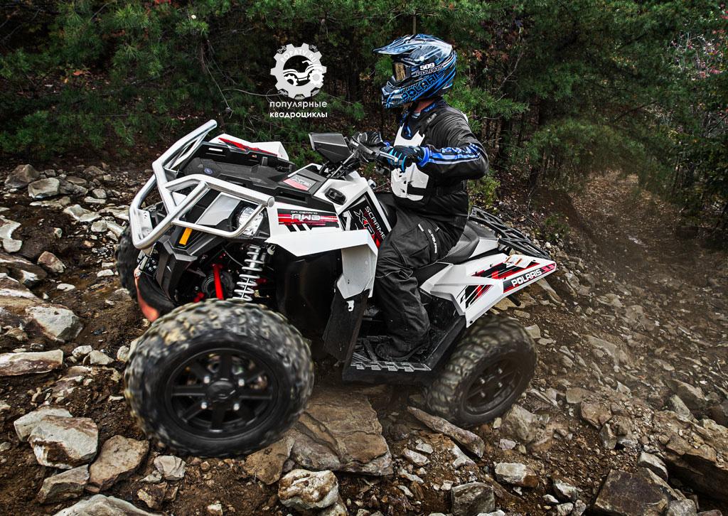 Матово-чёрные литые алюминиевые колёса – часть стандартной комплектации Scrambler XP 1000 EPS.