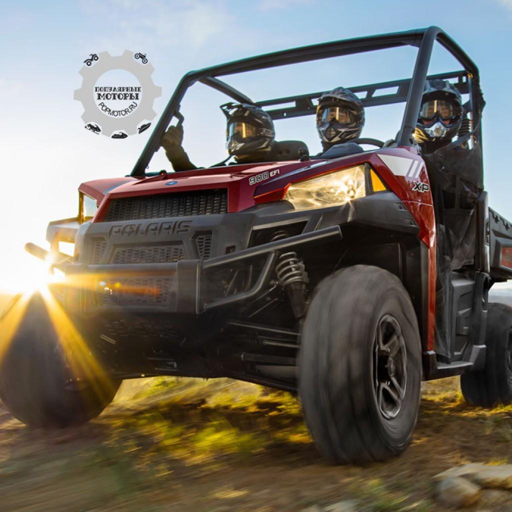 Фото модельного ряда ATV и UTV Polaris 2013 года - Polaris Ranger XP 900 2013 в дороге