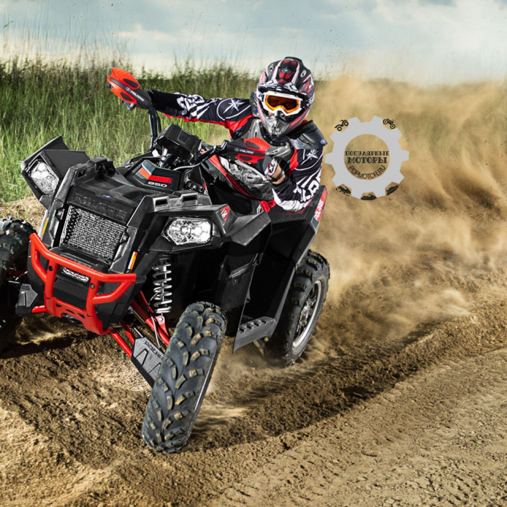 Фото модельного ряда ATV и UTV Polaris 2013 года - Polaris Scrambler XP 850 LE 2013 на трэке