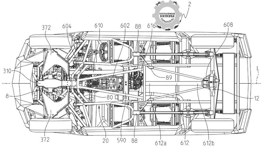 Polaris разрабатывают инновационный утилитарный мотовездеход