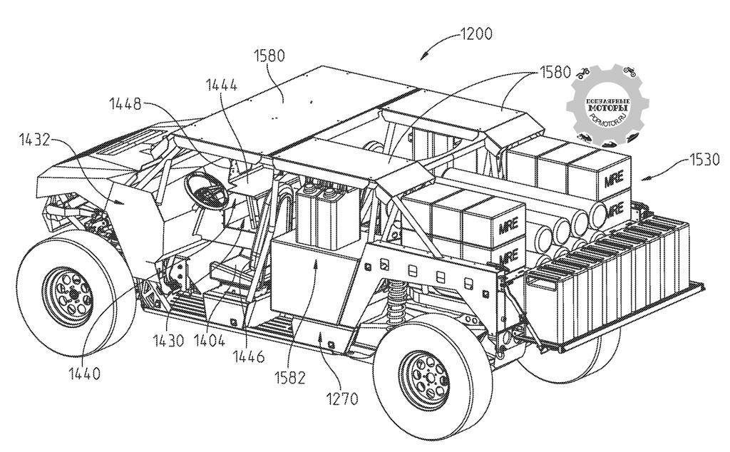 Polaris изобразили, как эту машину можно оснастить для военного использования.