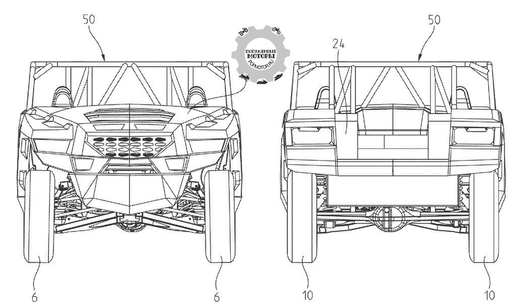 Вид спереди и сзади на подвеску нового проекта Polaris.