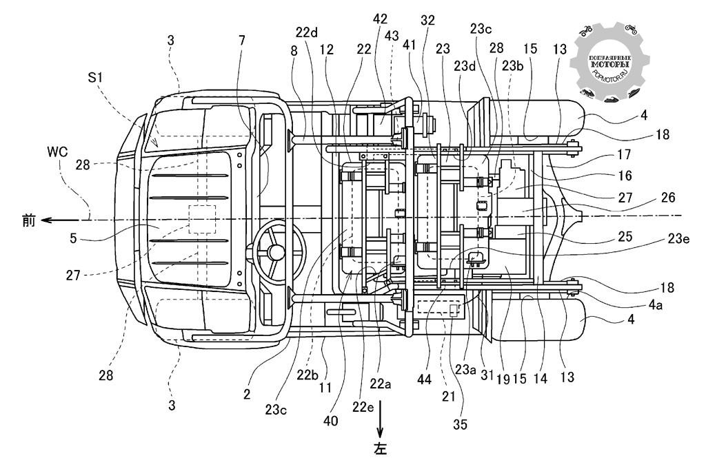 Фото новости - работают ли Kawasaki над созданием электрического мотовездехода вид сверху