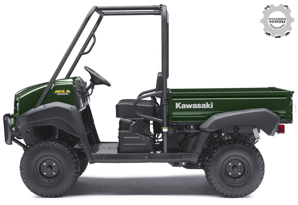 Невооружённым глазом видно, насколько Kawasaki Mule 4000 похож на рисунки электрического UTV из патентных документов.