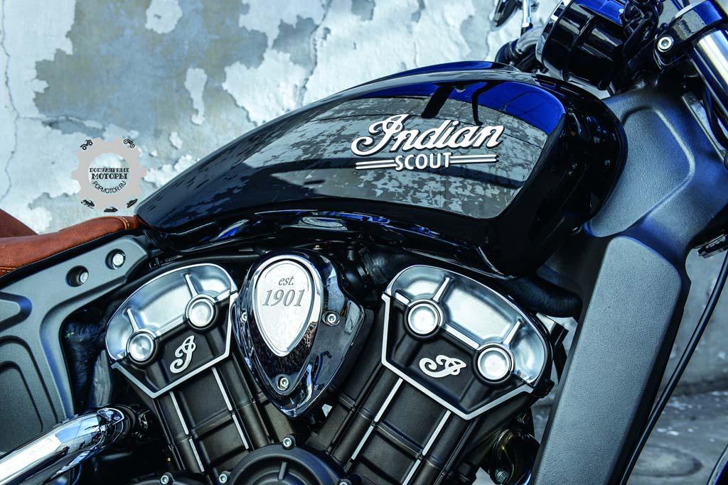 Глядя на двигатель Scout, сложно поверить, что он родственник моделей Chief, Chieftain и Roadmaster.