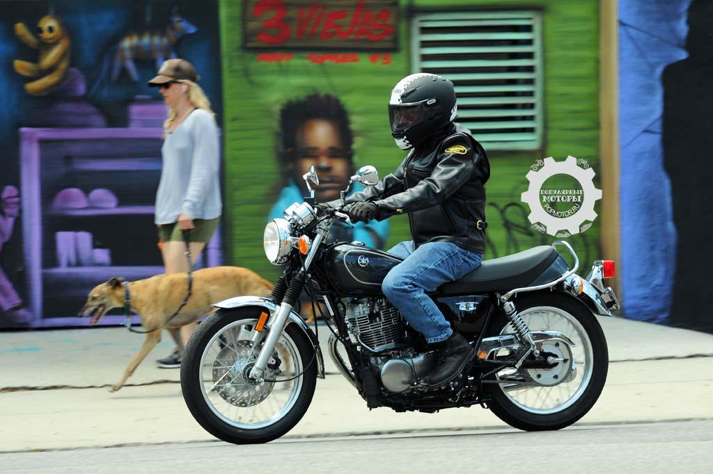 Обзор мотоцикла Yamaha SR400 2015