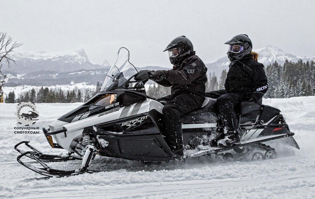 На снегоходе Arctic Cat Bearcat Z1 XT Limited со 154-дюймовой гусеницей хватит места для двоих, а то и троих.