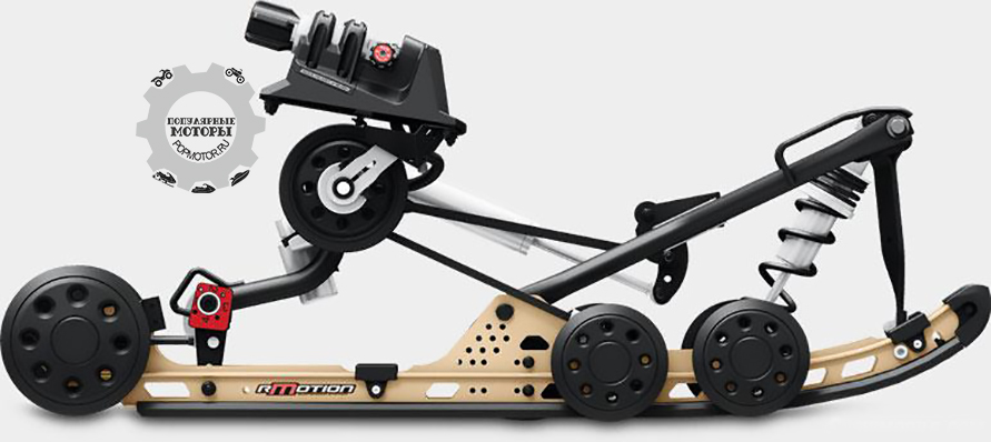 Передняя подвеска RAS2 прекрасно работает в тандеме с задней подвеской rMotion, наделяя Ski-Doo Renegade 2015 новым характером и потрясающей управляемостью.