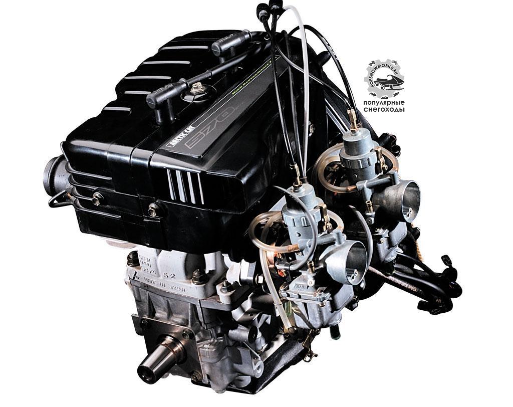 Все три снегохода созданы с применением устаревшей 2-тактной технологии, привычной для 2-цилиндрового двигателя с воздушным охлаждением Suzuki 570.
