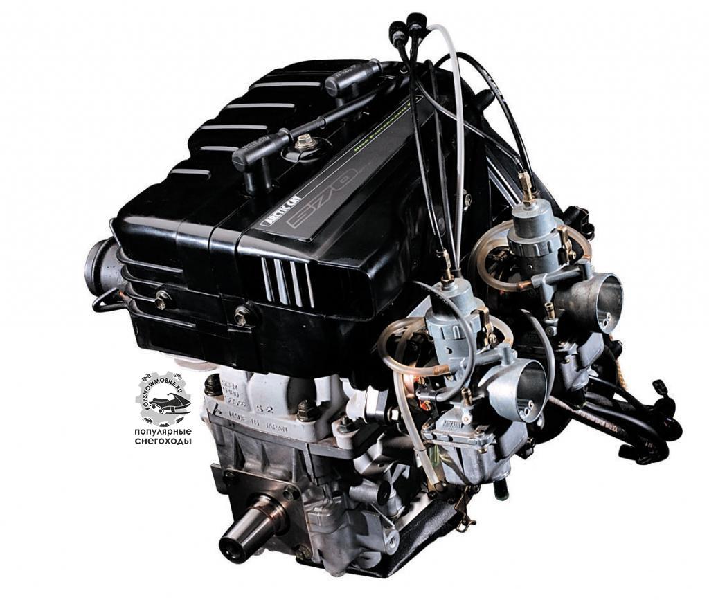 2-тактные 2-цилиндровые двигатели с воздушным охлаждением, как этот мотор от Suzuki с Arctic Cat F570, будут заменены в ближайшие годы.