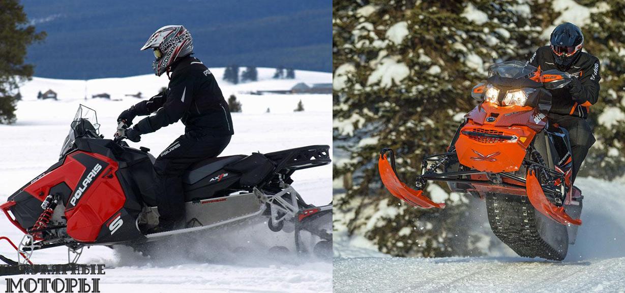 Сравнение Ski-Doo Renegade X 800 2015 и Polaris 800 Switchback Pro-S 2015