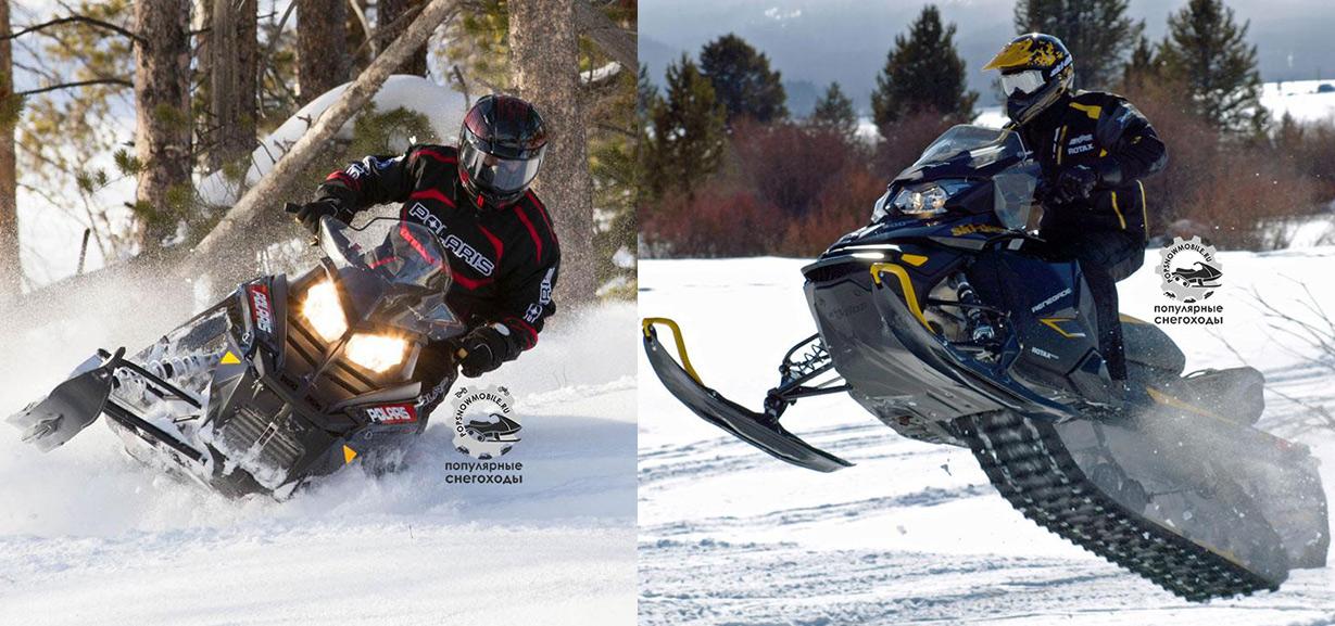 Polaris 600 Switchback 2014 против Ski-Doo Renegade 600 E-TEC 2014