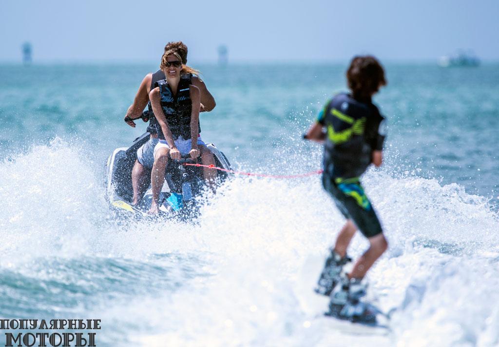 Гидроциклу не по силам тягаться в этом с другими моделями Sea-Doo, но у Spark всё же достаточно прыти для буксировки.