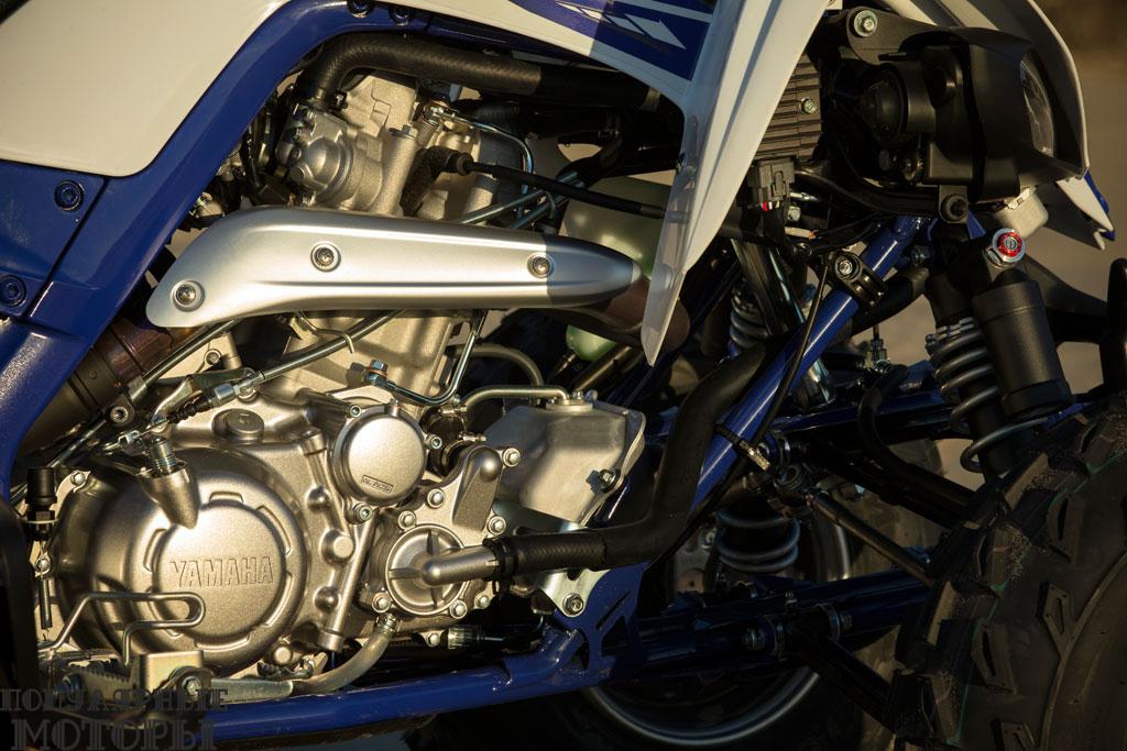 В 2015 модельном году Yamaha удалось получить примерно на 10% больше мощности от 686-кубового одноцилиндрового двигателя.