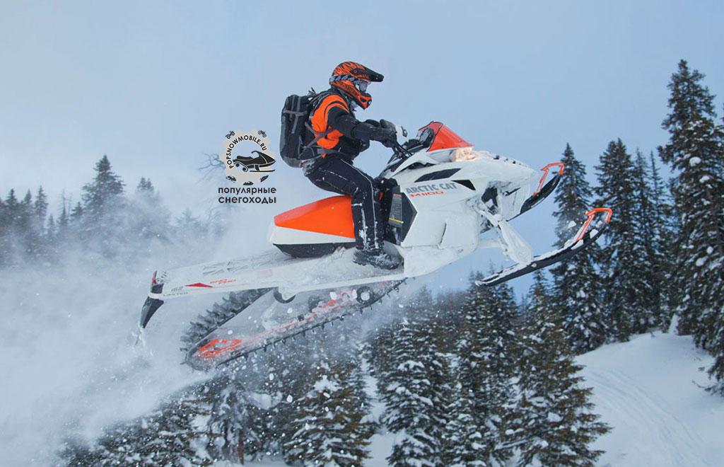 Фото лучшего турбированного горного снегохода Arctic Cat M1100 Turbo Sno  2012