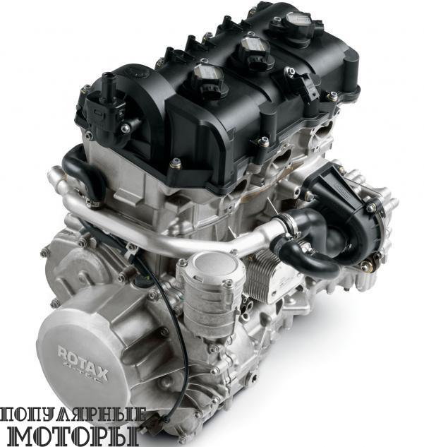 Большой трёхцилиндровый четырёхтактный мотор Rotax 1200 4-TEC получил три переключаемых режима работы, электропривод дроссельной заслонки и более мощный звук выхлопа.