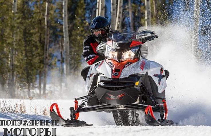 Ski-Doo Renegade X обзавёлся обновленным четырёхтактным двигателем 1200 4-TEC на узкой платформе XS.