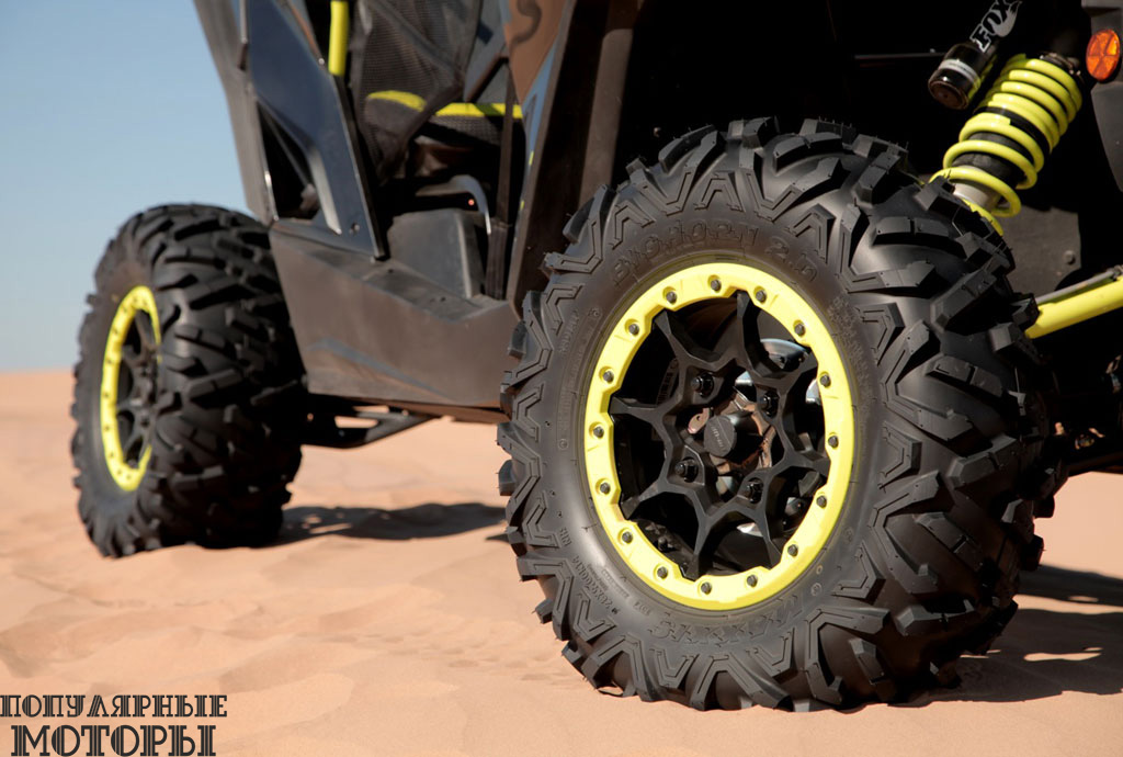 BRP «обули» колёса с бэдлоками в 28-дюймовые шины Maxxis Bighorn 2.0.