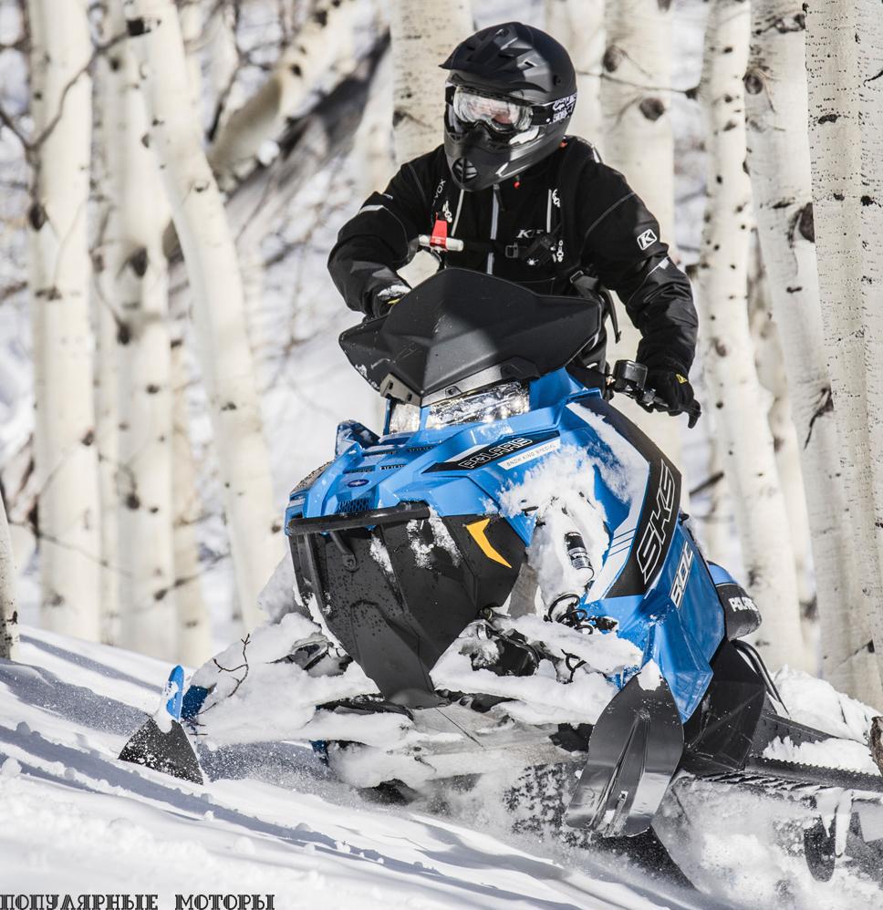 Фото анонса снегоходов Polaris 2016 года