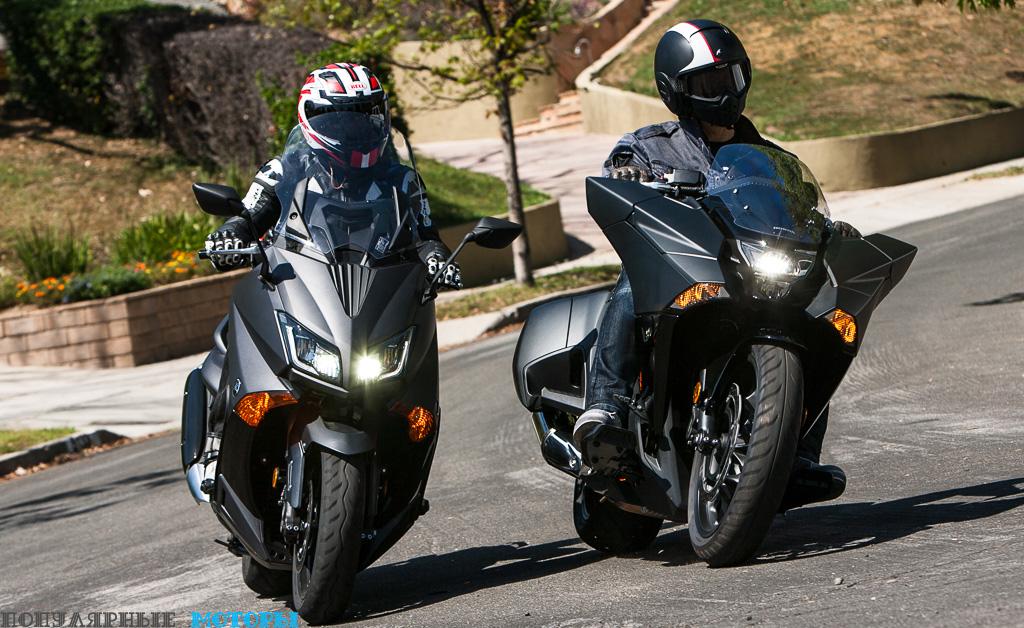 Фото скутеров: Honda NM4 против Yamaha TMAX
