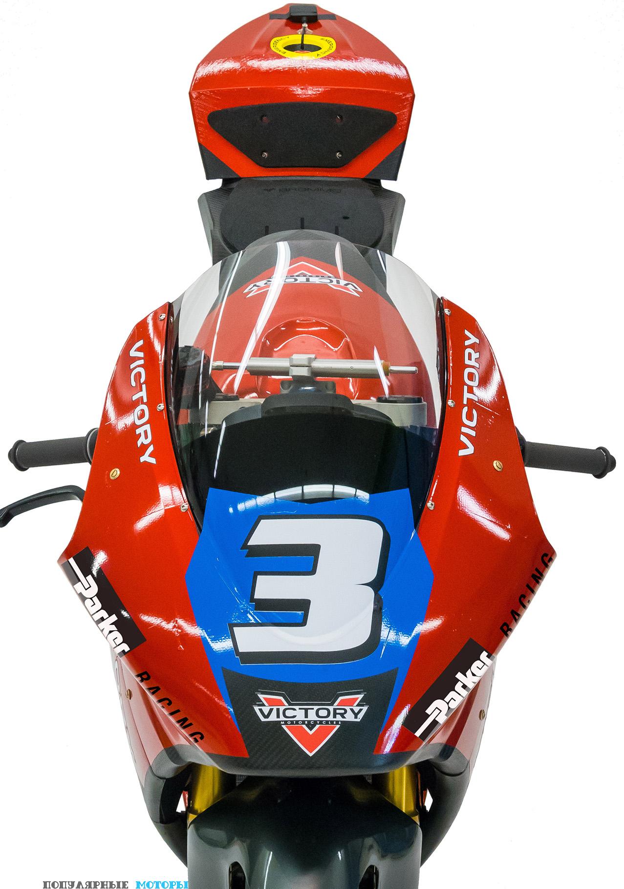 Фото прототипа электрического мотоцикла Victory