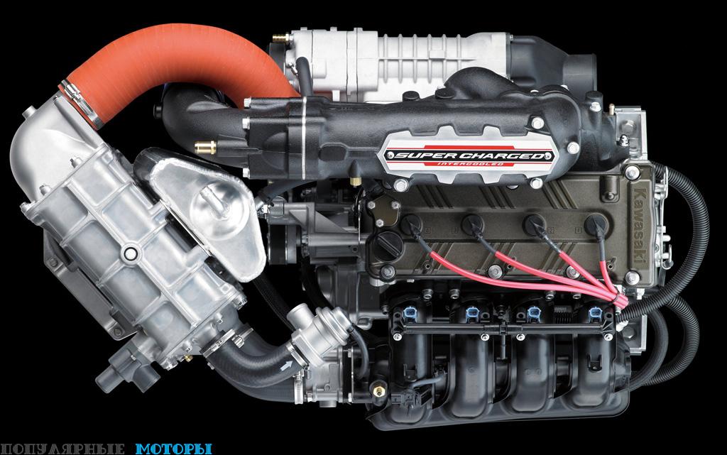 Двигатель Kawasaki объёмом 1498 кубических сантиметров выдаёт 310 лошадиных сил —один из лидирующих показателей в индустрии.