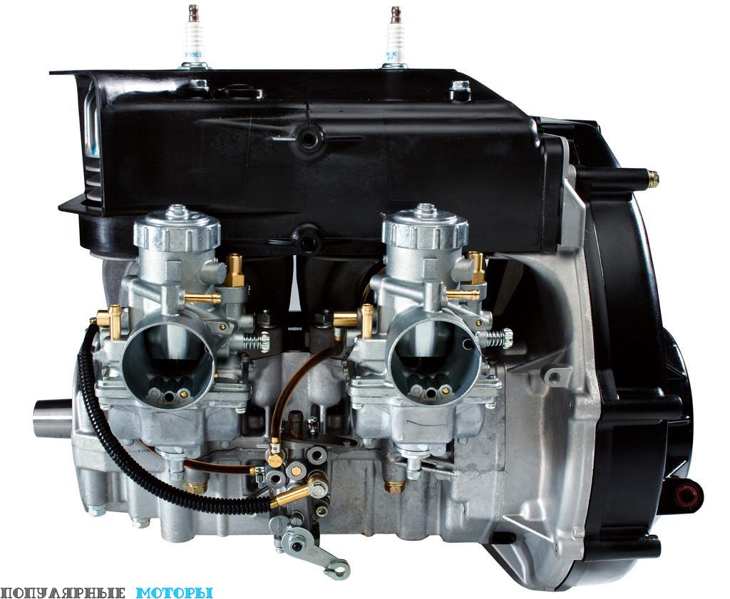 Двухактный двухцилиндровый двигатель производства Fuji, используемый на 550 Indy, выдаёт около 55 лошадиных сил, но это разработка прошлого века с карбюраторами, цилиндрами с покрытием «никасил» и воздушным охлаждением.