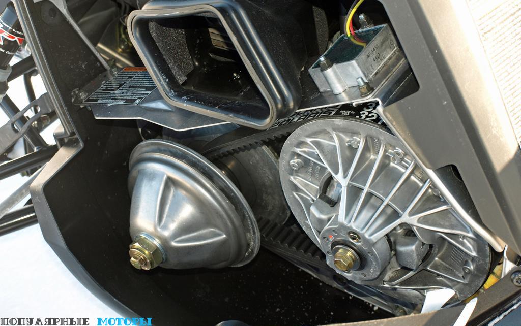 Система привода на Polaris 550 Indy была разработана ещё в 1970-е годы, но она почти не требует техобслуживания и является невероятно надёжной и прочной.