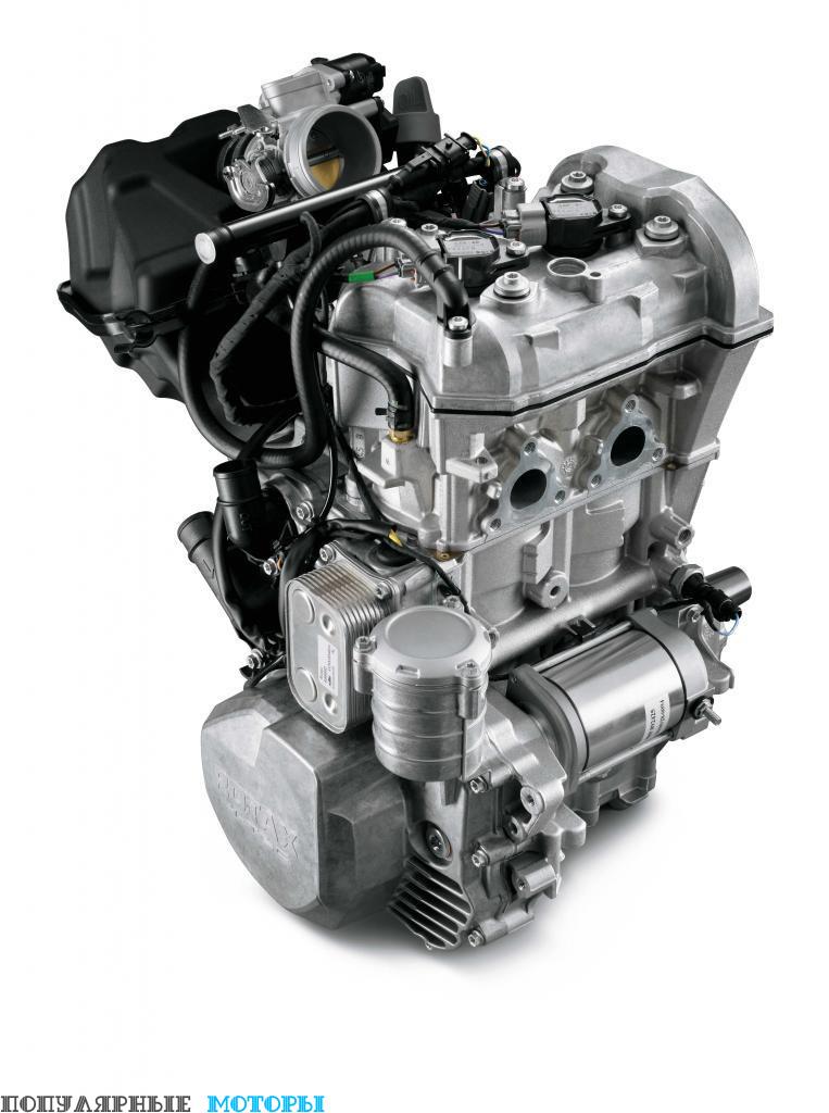 Полная противоположность двухцилиндрового 550-го двигателя Polaris — четырёхтактный Ski-Doo 600 ACE с двумя верхнерасположенными распредвалами, электронной системой впрыска топлива, тремя режимами работы и очень экономичным расходом топлива.