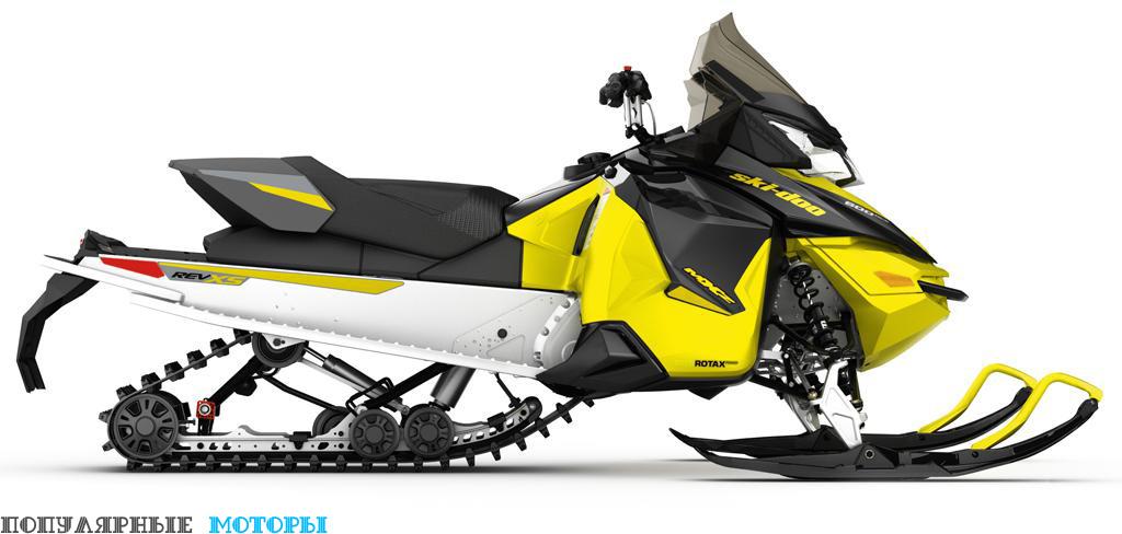 Версия MXZ Sport 600 ACE образца 2016 модельного года отличается, по сути, только обновлённой расцветкой и комплектом наклеек.