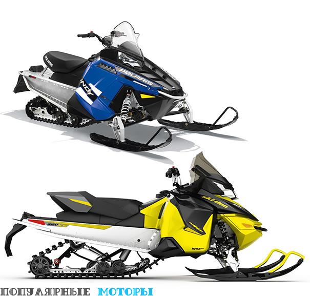 Сравнение Ski-Doo MXZ Sport 600 ACE 2016 и Polaris 550 Indy 2016