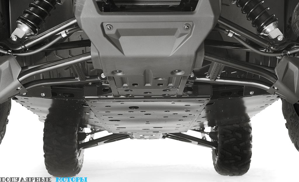 Фото Yamaha Wolverine R-Spec 2016 — защитные плиты спереди