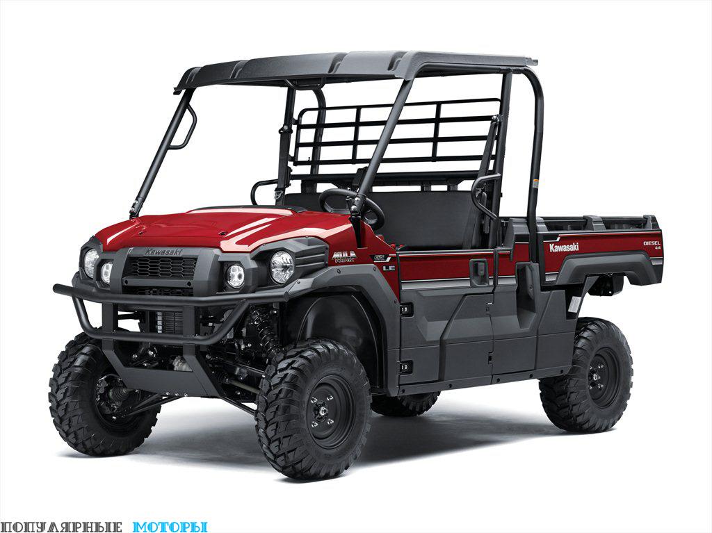 Грузоподъёмность двухместного Mule Pro-DX составляет 450 килограммов.