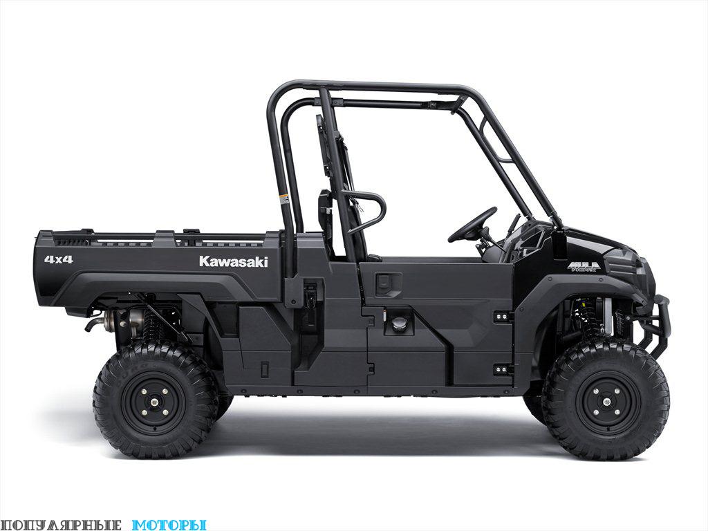 Mule Pro-FX может вместить в грузовой платформе полноразмерную деревянную палету и буксировать до 900 килограммов.