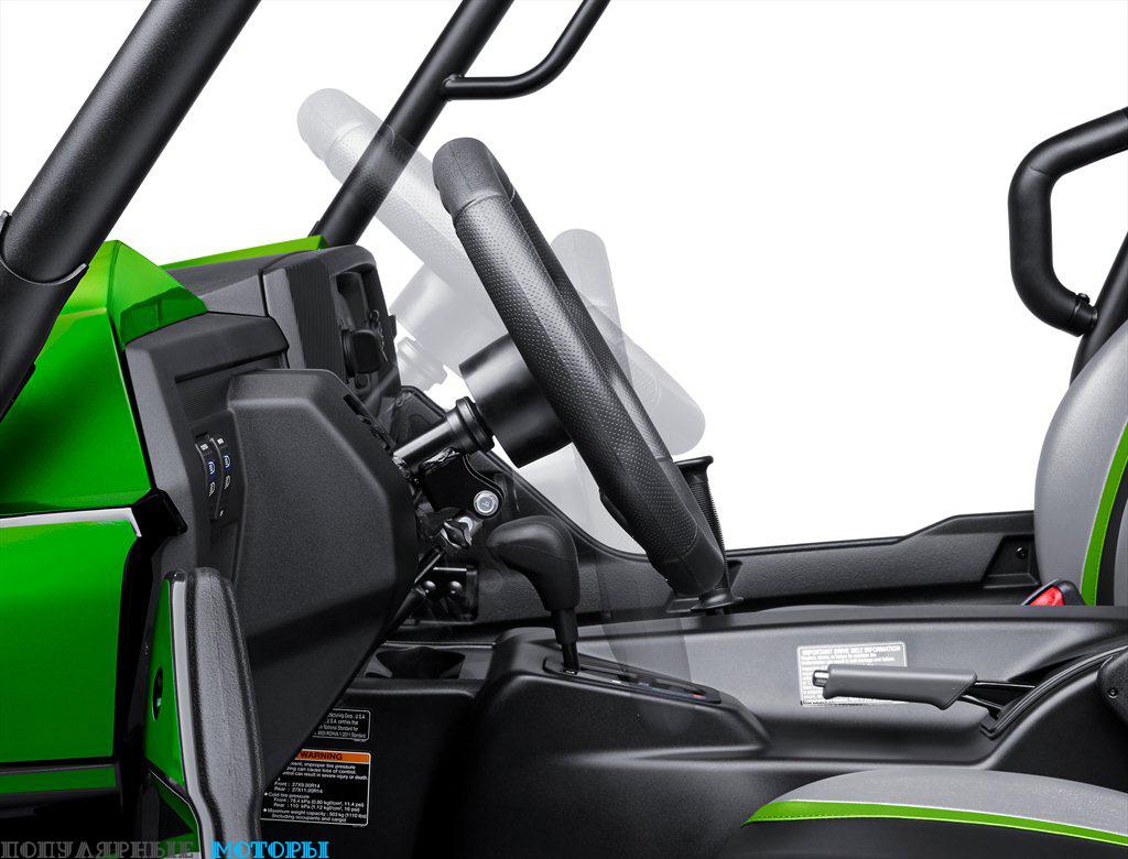 У всех моделей Teryx руль теперь можно регулировать по углу наклона, а сам руль стал толще.
