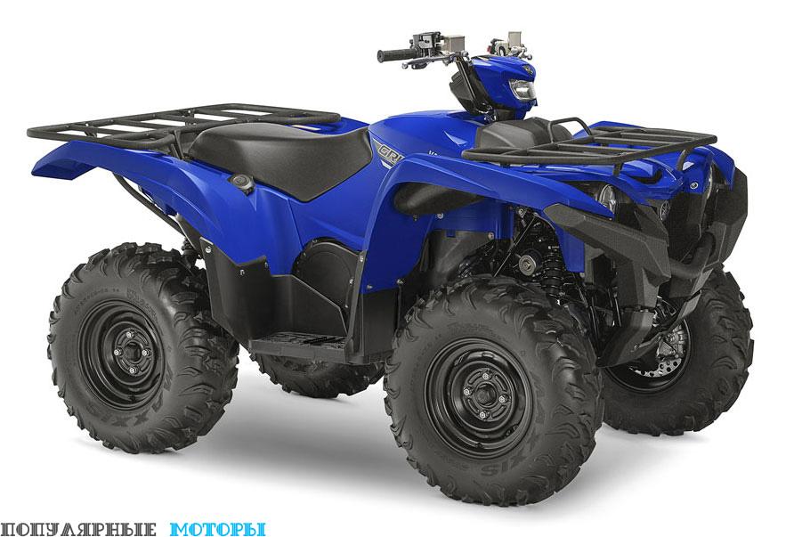 Фото Yamaha Grizzly 2016 EPS Blue — спереди справа