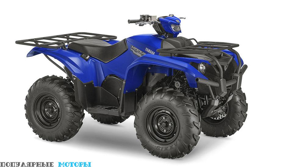 Yamaha Kodiak 700 2016 EPS Blue вид справа спереди — фото анонса Yamaha Kodiak 700 2016