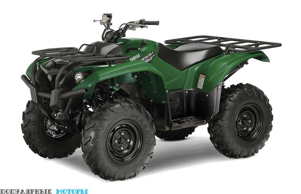 Новый квадроцикл Yamaha Kodiak 700 2016 может похвастаться тем же мощным двигателем, что стоит в Grizzly 700, но новинка достаточно дешевле.