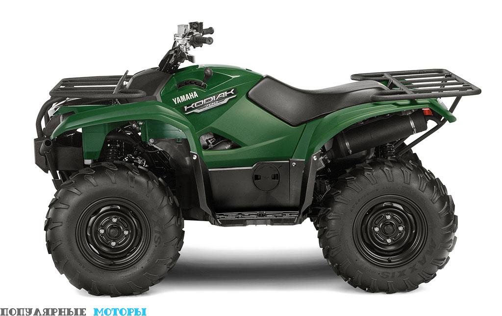 Yamaha Kodiak 700 2016 Green вид слева — фото анонса Yamaha Kodiak 700 2016