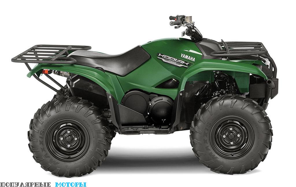 Yamaha Kodiak 700 2016 Green вид справа — фото анонса Yamaha Kodiak 700 2016