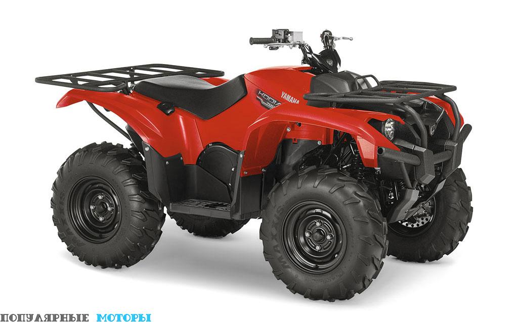 Yamaha Kodiak 700 2016 Red вид справа спереди — фото анонса Yamaha Kodiak 700 2016